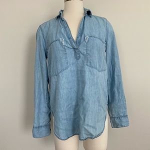 lou and gray denim shirt